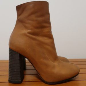Chloe Ankle Boots Tan Leather Size 36.5 High Heel
